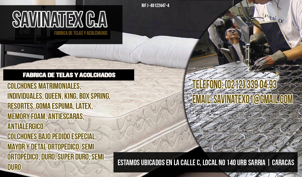 SAVINATEX C.A en Paginas Amarillas tu guia Comercial