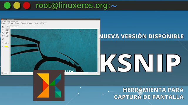 Ksnip 1.8.0, herramienta de captura de pantalla en Linux