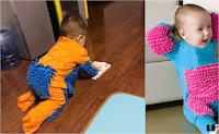 7 pictures showing that your baby is able to help with cleaning the house