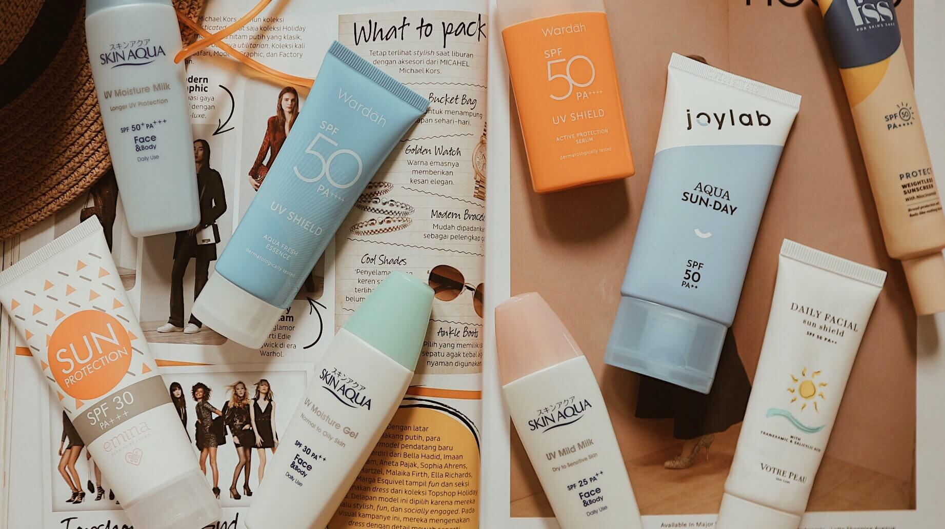 Rekomendasi Sunscreen Lokal
