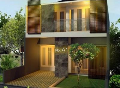 Tampak Depan Rumah Minimalis 2 Lantai modern