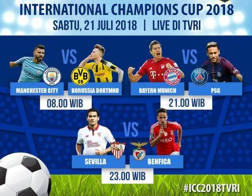Jadwal ICC Sabtu 21 Juli 2018