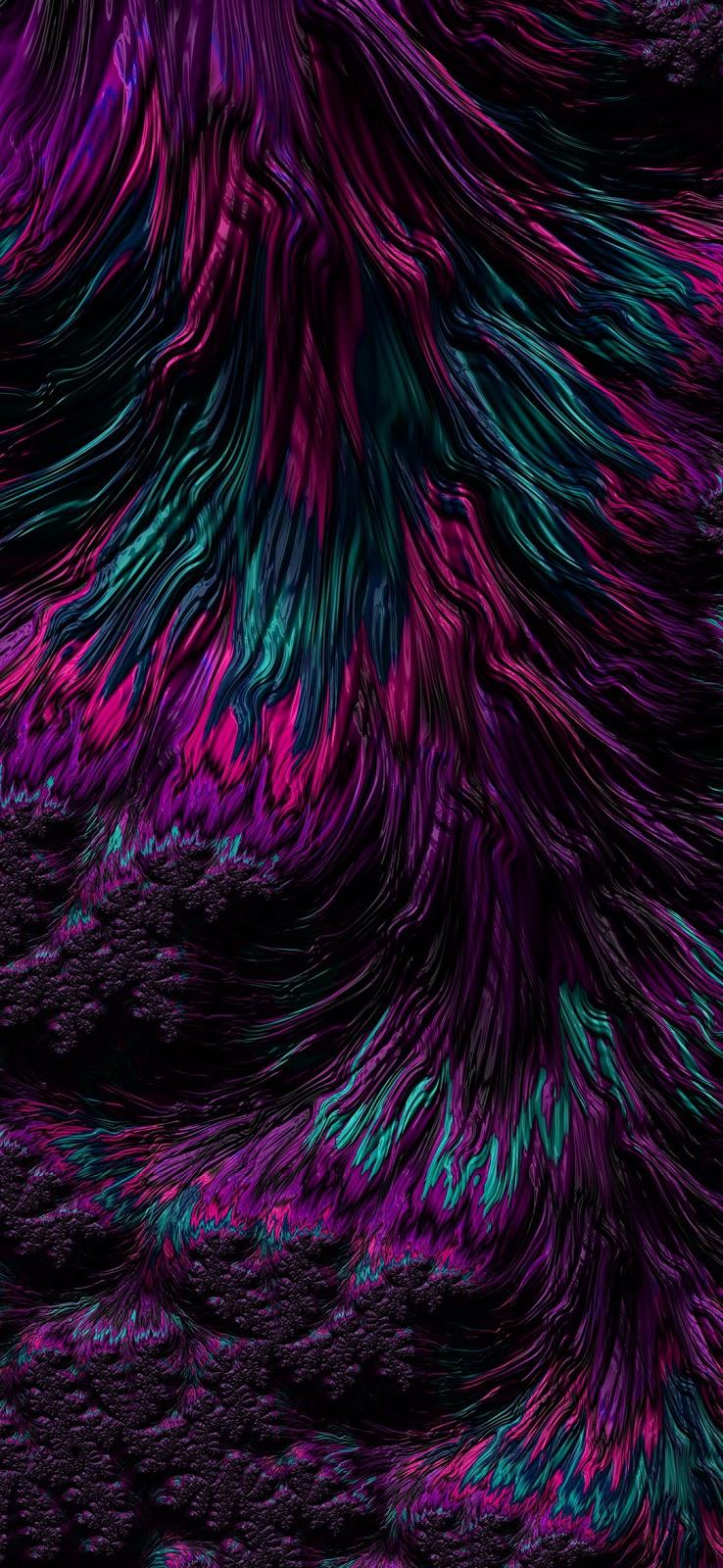 aesthetic dark purple waves wallpaper
