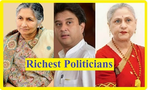 Forbes richest politicians in India?