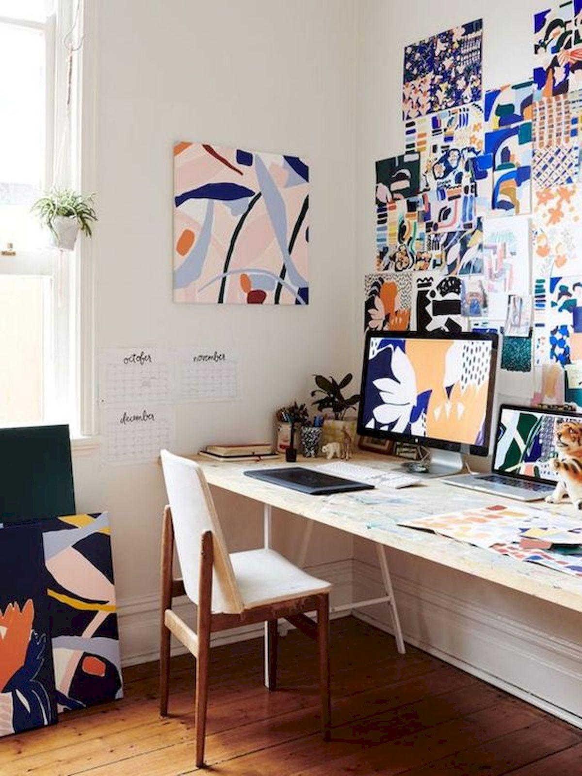 Simple Desk Workspace Design Idea