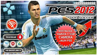 Download Pro Evolution Soccer (PES) 2012 PPSSPP Android Camera Normal & Camera Jauh PS5 Best Graphics