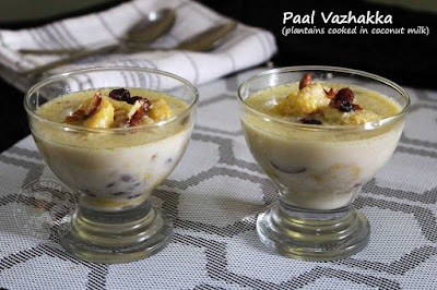paal vazhakka malabar ramadan dessert with plantain and coconut milk