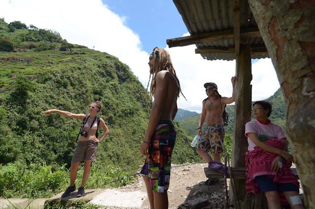 Tourist Mountain Paradise Batad Rice Terraces Ifugao Philippines