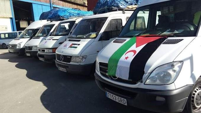 De nuevo, Argelia retiene a 12 furgonetas saharauis de mensajería en el puerto de Ghazaouet