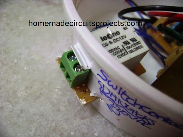 PIR prototype connection load wiring