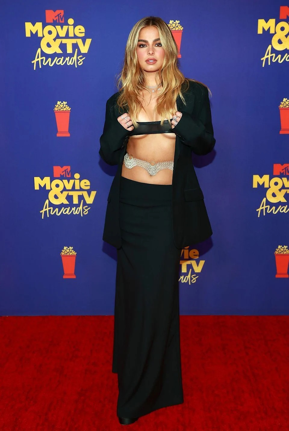 Addison Rae leaves little to the imagination at the 2021 MTV Movie & TV Awards