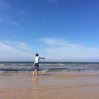 Autistic boy at the beach