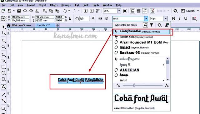cara install font coreldraw photosop