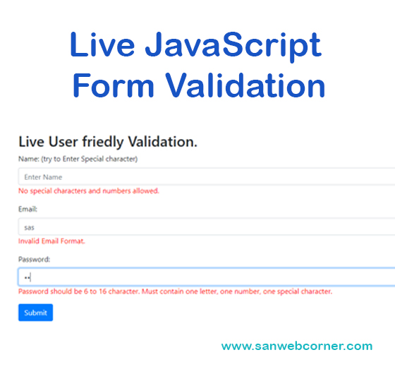 Live JavaScript Form Validation