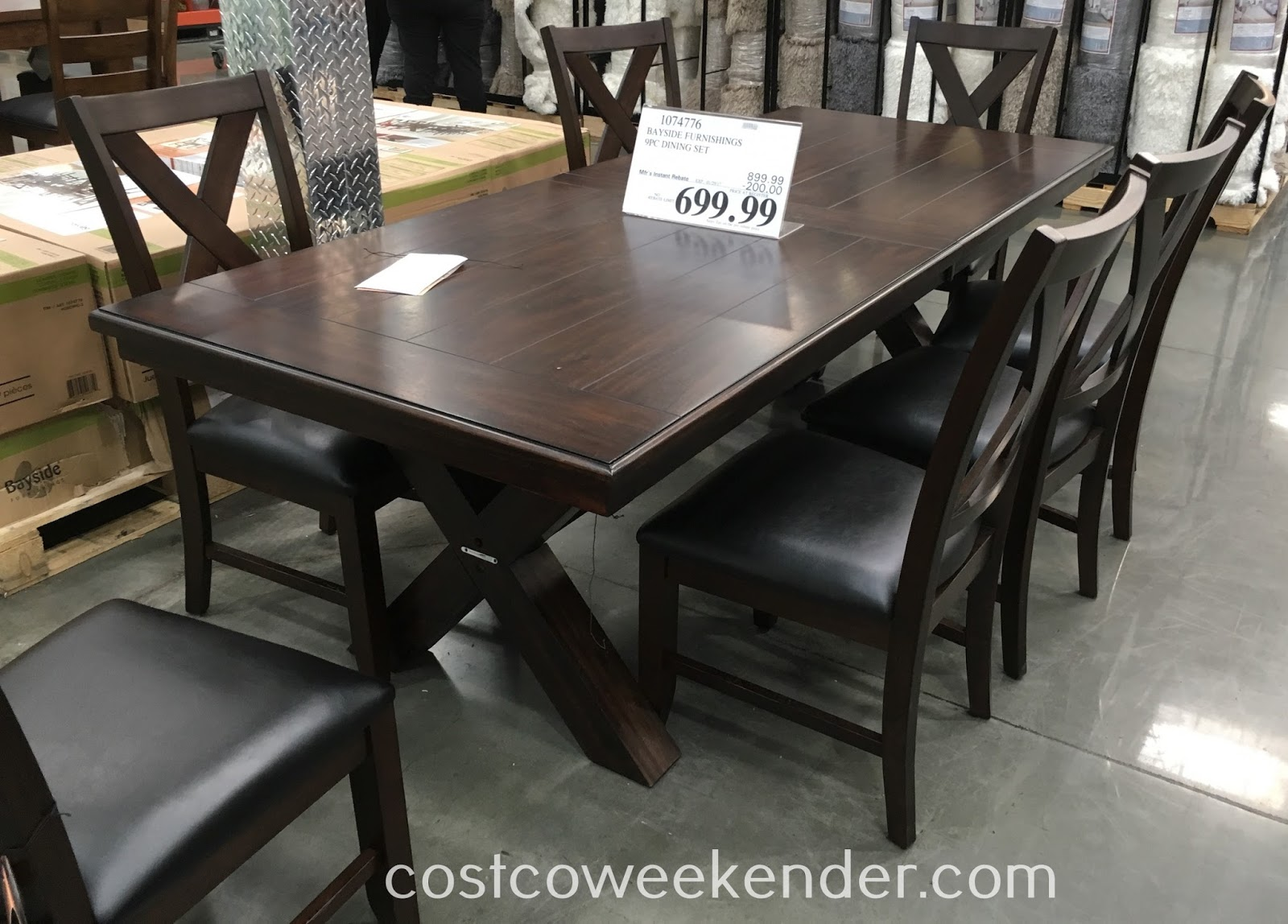 Costco Dining Set Bayside Furnishings 9 Piece Dining Set Costco Weekender