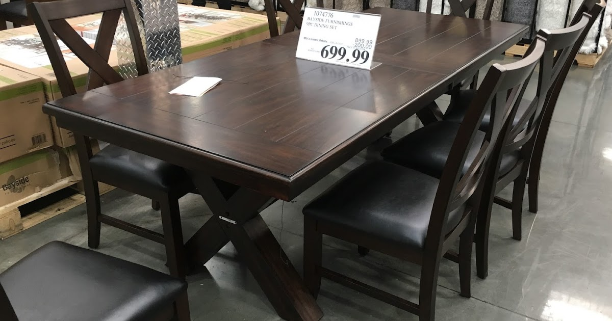Bayside Furnishings 9 piece Dining Set Costco Weekender : costco bayside furnishings 9 piece dining set 1074776 from www.costcoweekender.com size 1200 x 630 jpeg 123kB