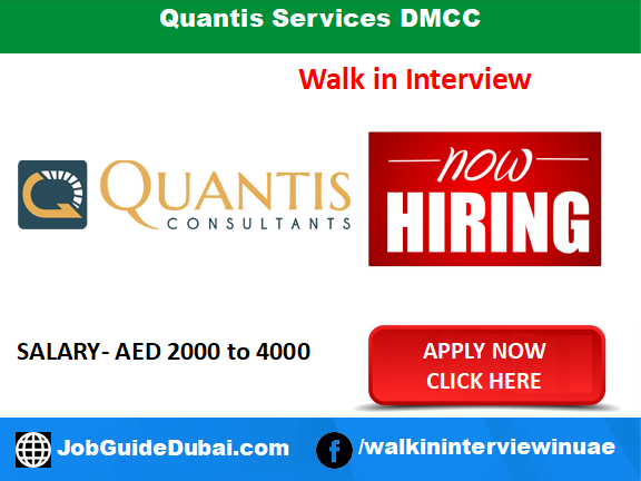 Quantis Services DMCC career for Sales Consultant Immigration jobs in Dubai UAE