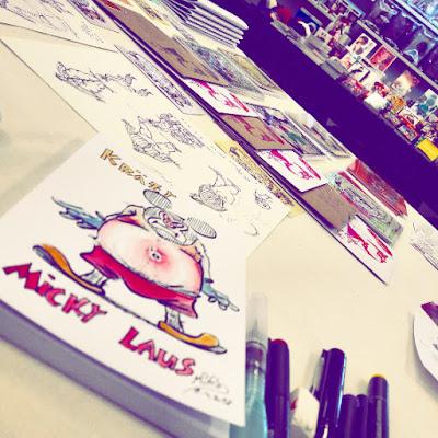 Live zeichnen für den Oberkärntner Comiczeichner Treff