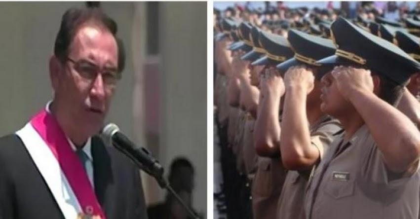 Presidente Martín Vizcarra ratifica que postulantes a escuelas de policía serán sometidos a la prueba del polígrafo en 2019