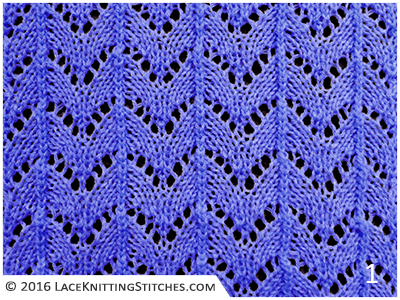 Knitting Horseshoe Lace Stitch Pattern : #35 Horseshoe Lace Knitting Stitches