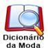 Dicionário da moda (aparece ao passar o mouse)