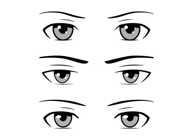 Contoh mata anime pria gaya biasa