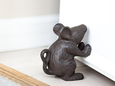 Iron Mouse Doorstop