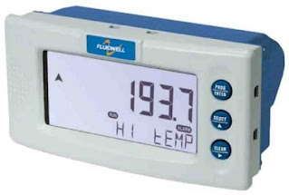 Fluidwell D043 DIN Panel Mount Temperature Monitor