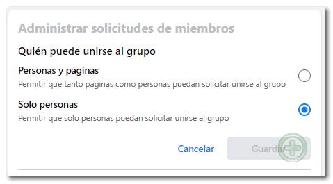 Administrar solicitudes de miembros en Grupos de Facebook