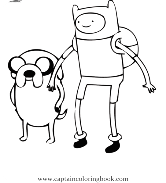 Adventure Time coloring pages | Print and Color.com | 600x543
