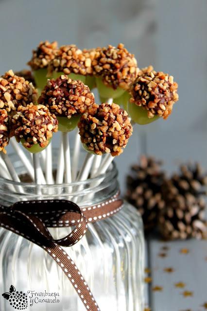 Uvas con chocolate crocanti