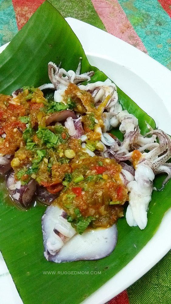 Resipi berbuka puasa | Sotong bakar dengan sos pedas Thai