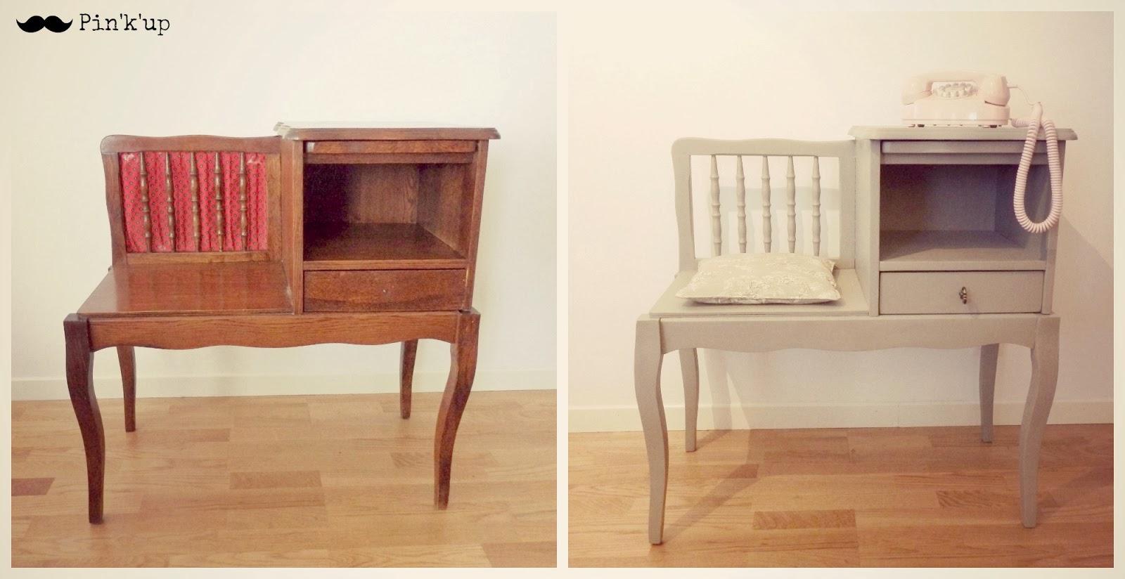 pin 39 k 39 up d co le meuble t l phone. Black Bedroom Furniture Sets. Home Design Ideas