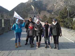 Jalan Jalan Di tembok Besar China Di Kota Beijing