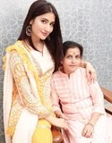 Monica Sharma with her mother