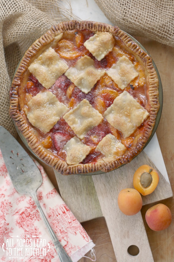 Blushing Apricot Pie | #FridayPieDay