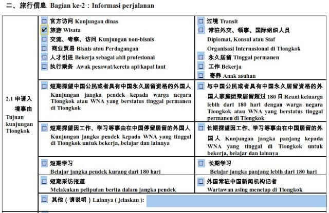 formulir visa china 2.1