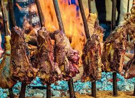 Cuisine, agneau, poulet, mouton, oignon, grillade, oignon, brochettes, feu, bois, haoussa, LEUKSENEGAL, Dakar, Sénégal, Afrique