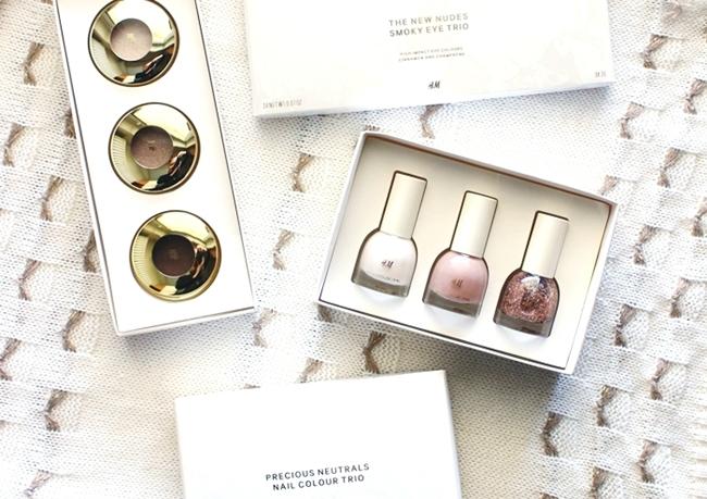 H&M precious neutrals nail colour trio nail polish set