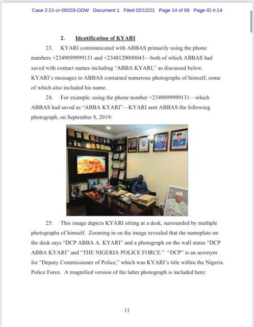 FBI releases the Implicating chat between Abba Kyari and Hushpuppi