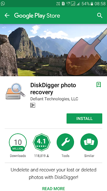 How to Recover Deleted Photos from Android Phones - Android App Disk Digger