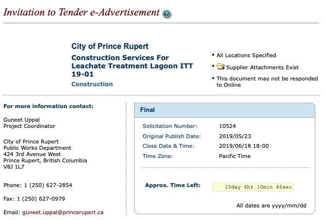 North Coast Review: City of Prince Rupert begins bids