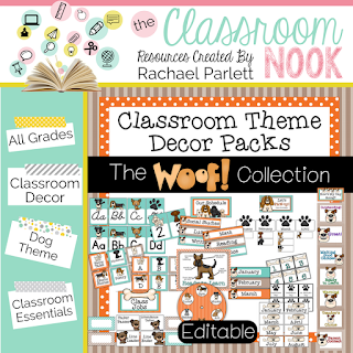 Dog theme printable classroom decor