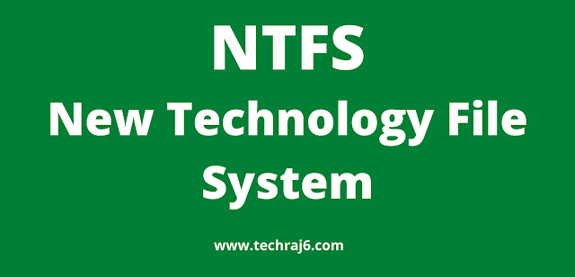 NTFS full form, What is the full form of NTFS