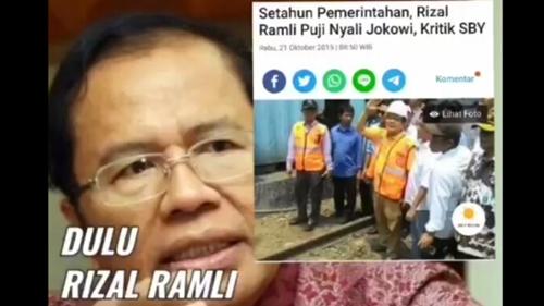 Rizal Ramli Dulu Sering Puji Jokowi, Netizen: Berubah Setelah Sakit Hati Dipecat dari Menteri