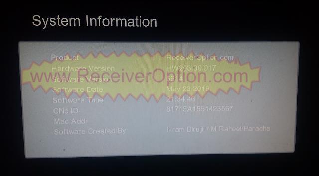 GX6605S HW203.00.017 TYPE HD RECEIVER TEN SPORTS OK NEW SOFTWARE