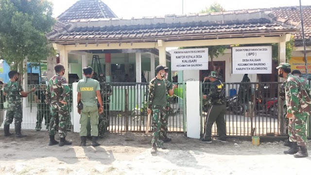 Jelang Pembukaan TMMD, Kodim 0813 Bojonegoro Benahi Balai Desa Kalisari
