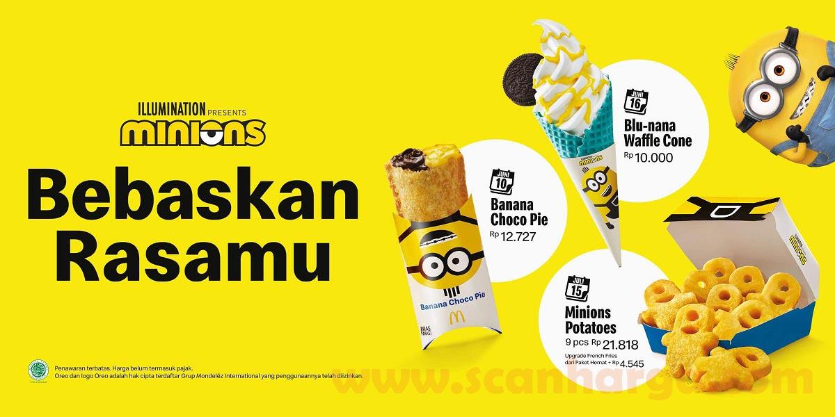 Harga Promo McDonalds Minions Potatoes Snack Terbaru Dari McD