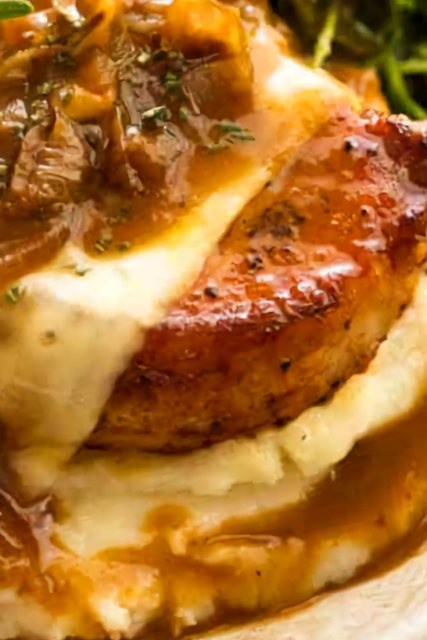 French Onion Smothered Pork Chops
