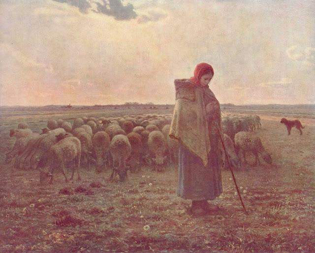 Жан Франсуа Милле - Пастушка. 1864